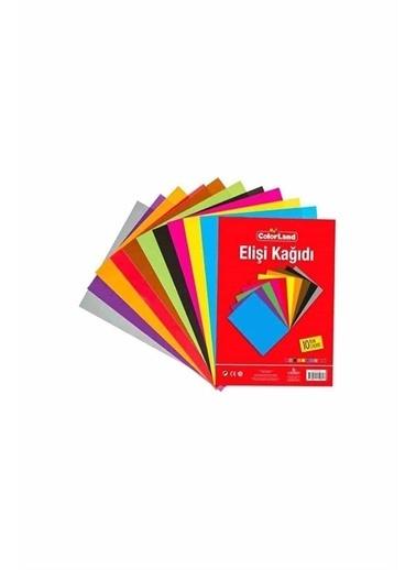Colorland Colorland Poşetli A4 Elişi Kağıdı 10 Renk Beyaz